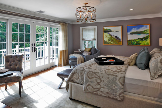 Contemporary Bedroom by Vani Sayeed Studios