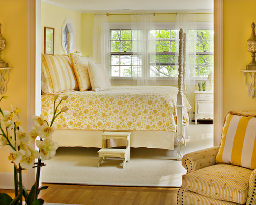 romantic yellow bedroom | houzz