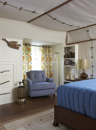 Eclectic Bedroom by Cynthia Mason Interiors