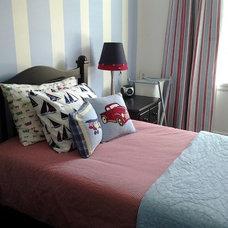 Transitional Bedroom by Studio NOO Design