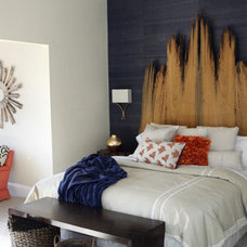 Eclectic Bedroom by Trade Mark Interiors, Inc.