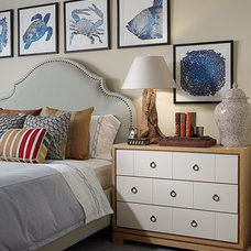 Beach Style Bedroom by Cindy Ray Interiors, Inc.