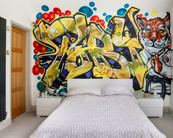 Graffiti Teen BedroomGraffiti Teen Bedroom   Houzz. Graffiti Bedroom Decorating Ideas. Home Design Ideas