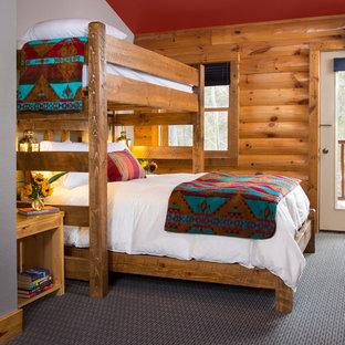 Southwest guest carpeted bedroom photo in Denver