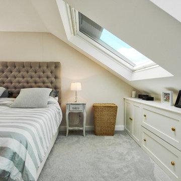 Bright loft with large Velux Window
