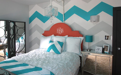 How Did You Paint The Chevron Stripe On The Wall