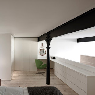 Inspiration for a contemporary bedroom remodel in Manchester