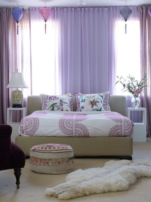 best purple curtains design ideas  remodel pictures  houzz, Bedroom decor