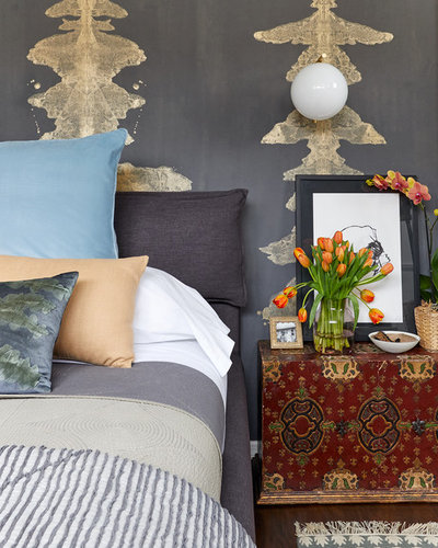 Eclectic Bedroom by LBR | HOME
