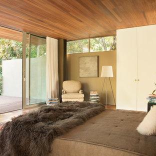 Camera da letto moderna con pareti beige - Design, Foto e ...