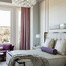 Transitional Bedroom by Leslie Fine Interiors