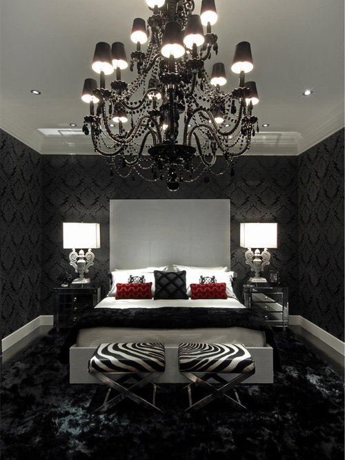gothic bedroom. Inspiration for a contemporary bedroom remodel in Atlanta Gothic Bedroom  Houzz