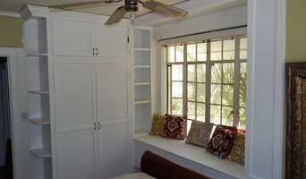 Built-in armoire and window seating