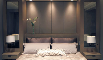 Built-In Bed with Upholstered Panels