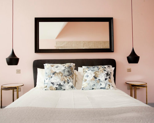 Grey and Pink Bedroom Ideas and Photos | Houzz