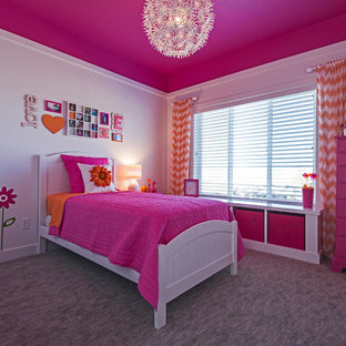 This is an example of an arts and crafts bedroom in Salt Lake City.