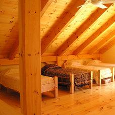 Rustic Bedroom by G V V Architects