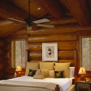 Mountain Style Guest Bedroom Photo In Denver. Save Photo. Caddis Fly Cabin  Interior
