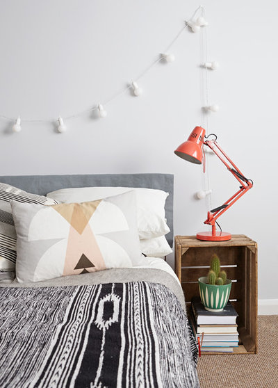 Scandinavian Bedroom by Kristy Noble Photography