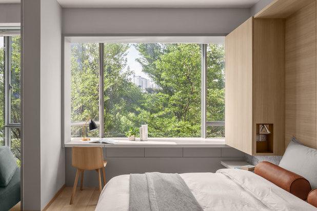 コンテンポラリー 寝室 by Atelier Here