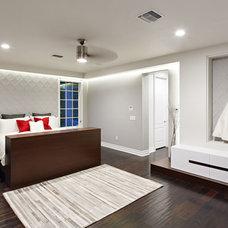 Contemporary Bedroom by Caisson Studios