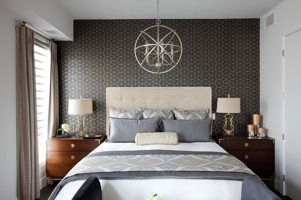 Transitional Bedroom by DWK Interiors