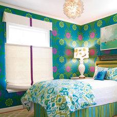 Beach Style Bedroom by Charmean Neithart Interiors, LLC.