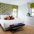 Contemporary Transitional Eclectic Guest Room Office