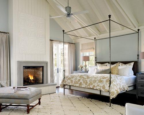 landhausstil schlafzimmer mit blauen wänden - ideen, design & bilder - Landhausstil Schlafzimmer Blau