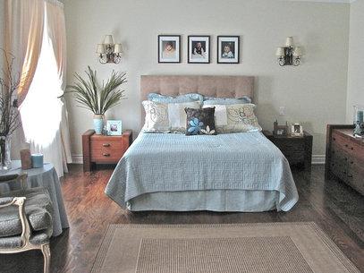 midcentury gray linen low profile platform bed frame tufted headboard full