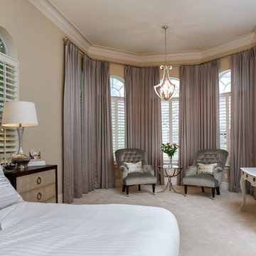 Calm, Beautiful Bedroom with Luxe Finishing Details
