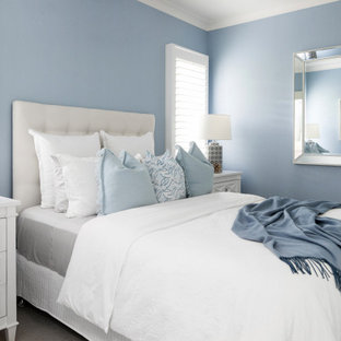 Photo of a beach style bedroom in Melbourne.