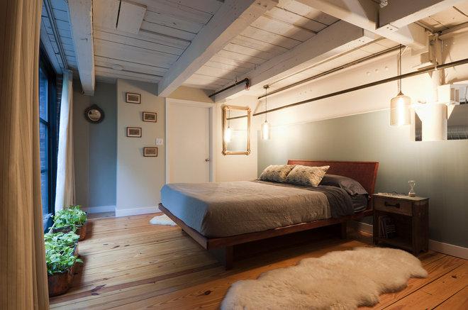 Industrial Bedroom by Mistura Interior Design, Inc
