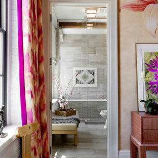 Inspiration for an eclectic bedroom remodel in New York