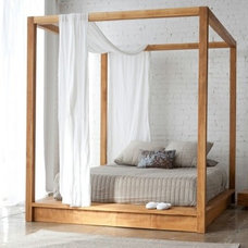 Eclectic Bedroom Canopy Bed