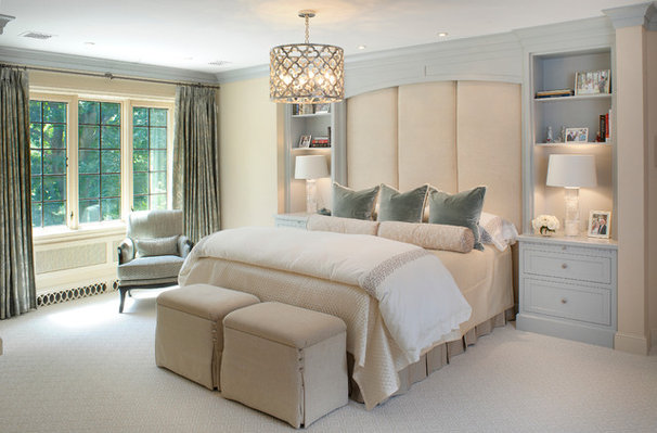 Transitional Bedroom by Slifer Designs