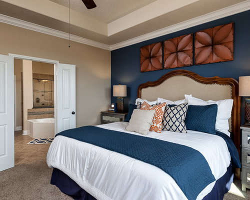 Blue tan bedding ideas pictures remodel and decor Blue and tan bedroom decorating ideas