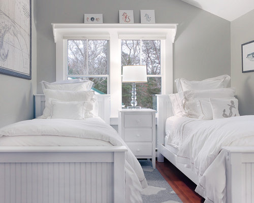 Grey nautical houzz for Cape cod style bedroom ideas