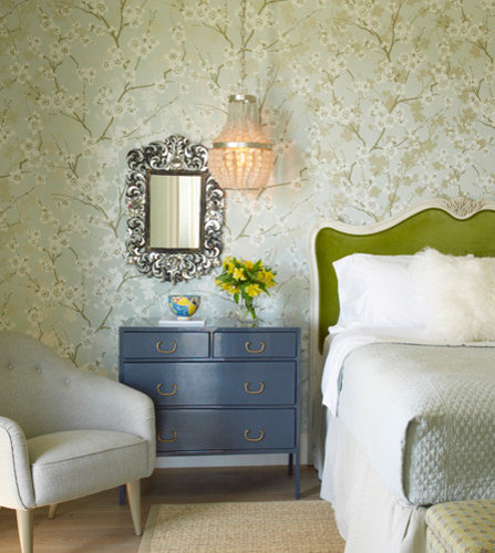 Transitional Bedroom Decorating Ideas: Transitional Green Bedroom Design Ideas, Remodels & Photos