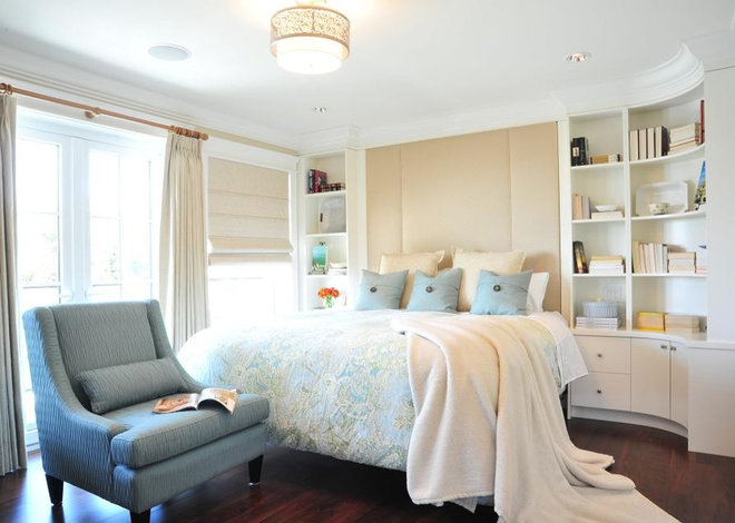 Transitional Bedroom by Enviable Designs Inc.