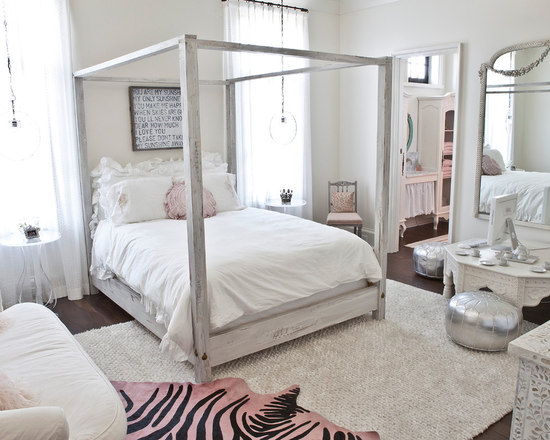 rustic four-poster bed | houzz