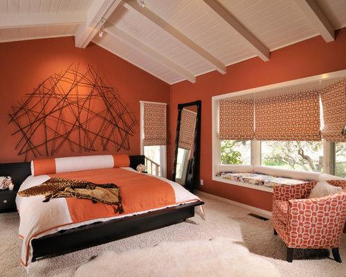 Orange Walls Houzz