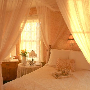 Inspiration for a shabby-chic style bedroom remodel in Other