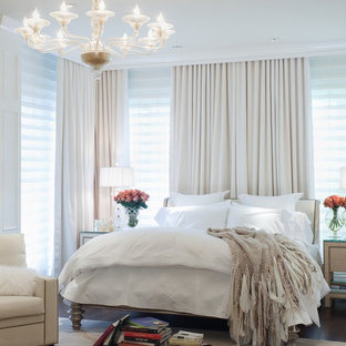 Example of a classic master bedroom design in Miami