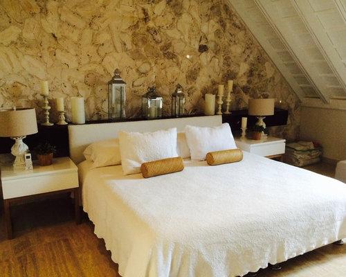 mediterrane schlafzimmer mit sperrholzboden ideen design bilder houzz. Black Bedroom Furniture Sets. Home Design Ideas