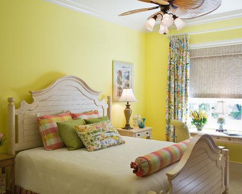 yellow bedroom wall | houzz