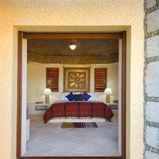 Mediterranean Bedroom by Barbara Page Interiors