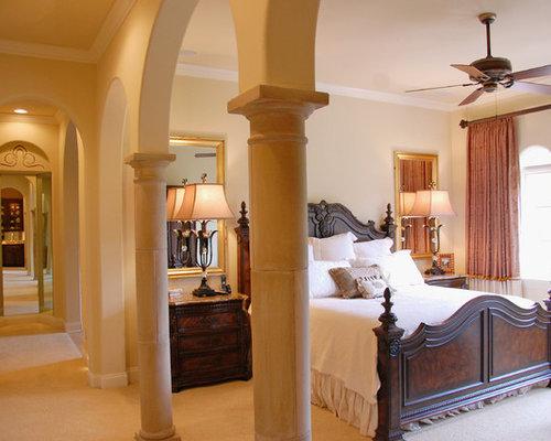 Tr s grande chambre avec un mur jaune photos et id es for Annmarie ruta elegant interior designs