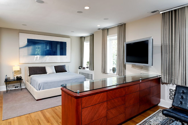 Contemporary Bedroom by Case Design/Remodeling, Inc.