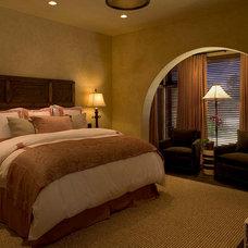 Mediterranean Bedroom by Rachel Mast Design